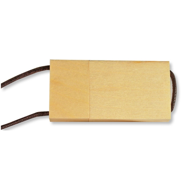 Eco Wood Lanyard Flash Drive