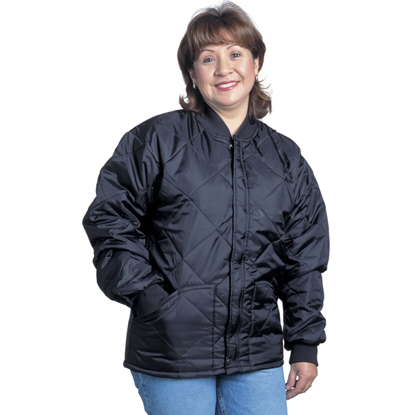 Quilted Jacket with Knit Collar and Cuffs - Tall