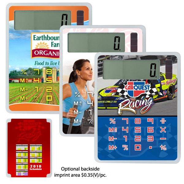 "U-design - 50 Working Days - Solar Powered Calculator, 2 3/4"" X 3 3/4"" With Battery Backup Photo"
