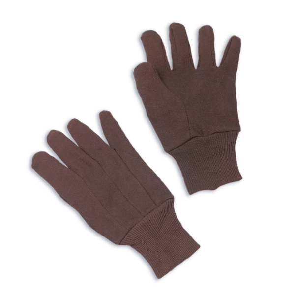 Brown Jersey Gloves