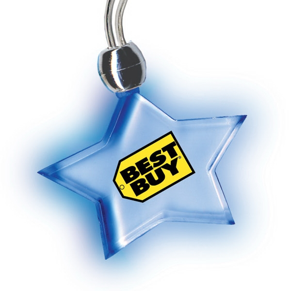Glo Gear - 50 Working Days - Star - Light Up Pendant Necklace With A Brilliant Glow. Factory Direct Photo