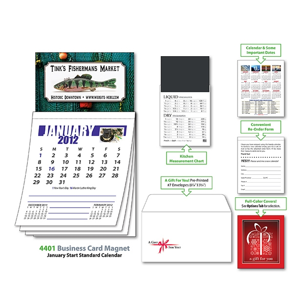 Magna-cal (tm) - Business Card Magnet Calendar - Jan. 2013 Photo