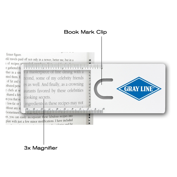 Easy Reader - 50 Working Days - Magnifier, Ruler And Bookmark Photo