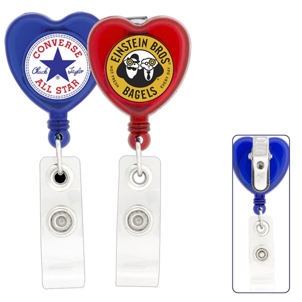 50 Working Days - Heart - Retractable Badge Holder Photo
