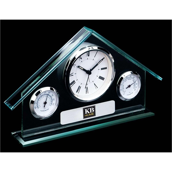 Glass House Weather Station Clock Photo