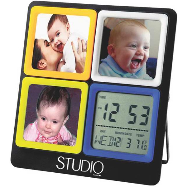 Interchangeable Frame With Calendar Clock Photo