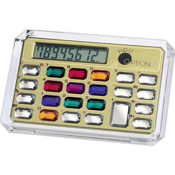 Horizontal 8 Digit Jewelry Calculator Photo