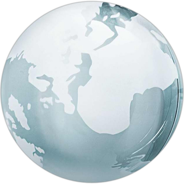 "Clear Glass Globe Shape Paperweight, 3"" Diameter Photo"