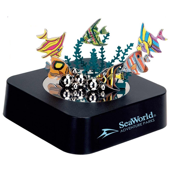 Magnetic Aquarium Sculpture Block With Color Metal Pieces Photo