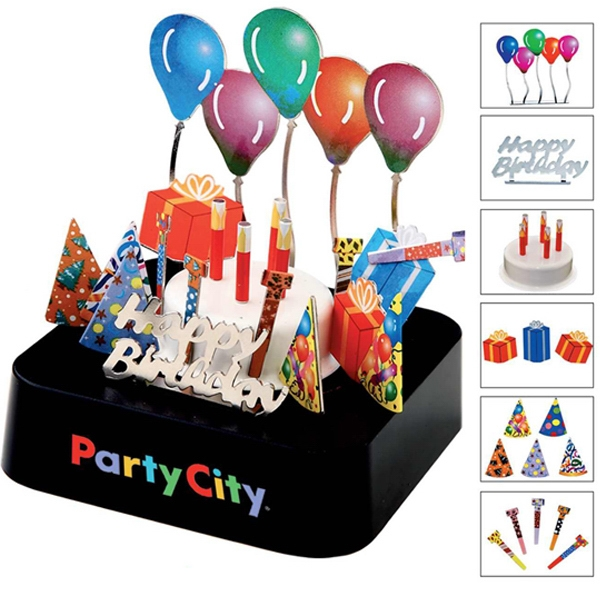 Birthday Party Magnetic Sculpture Block Photo