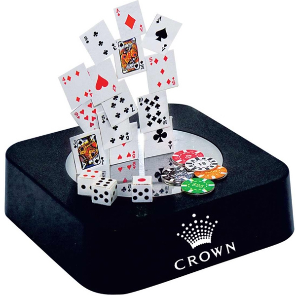 Magnetic Poker Sculpture Block With Color Metal Pieces Photo
