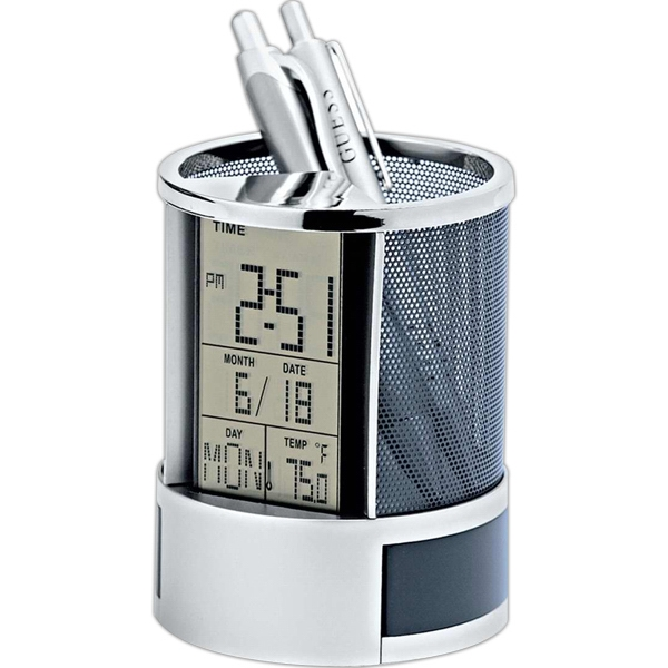 Calendar Alarm Clock Pen Holder Photo