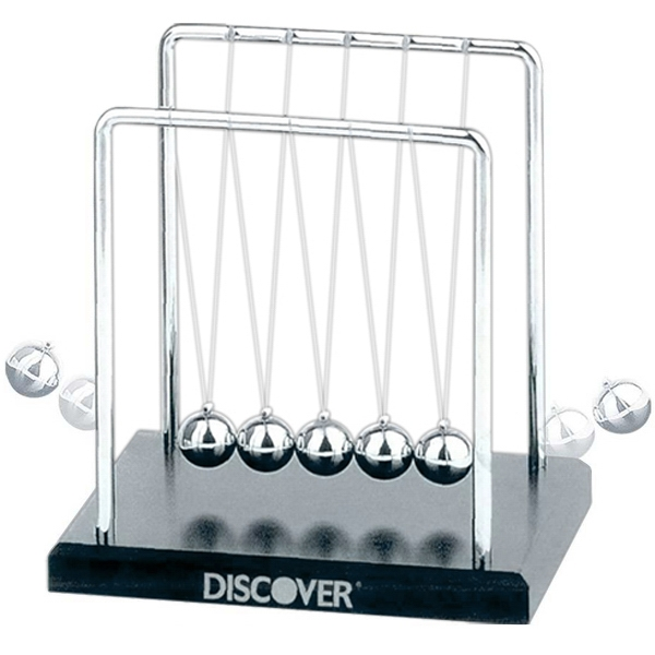 Newton's Cradle With Wood Base Photo