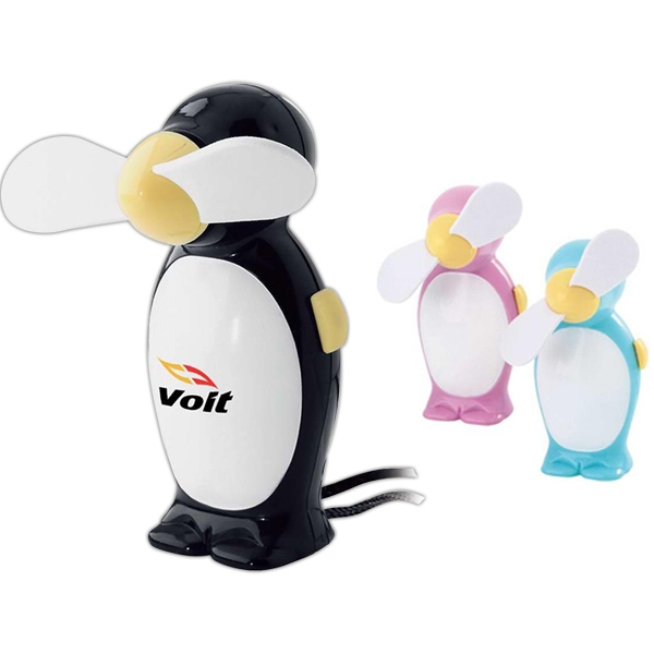 Penguin Shaped Fan With Lanyard Photo