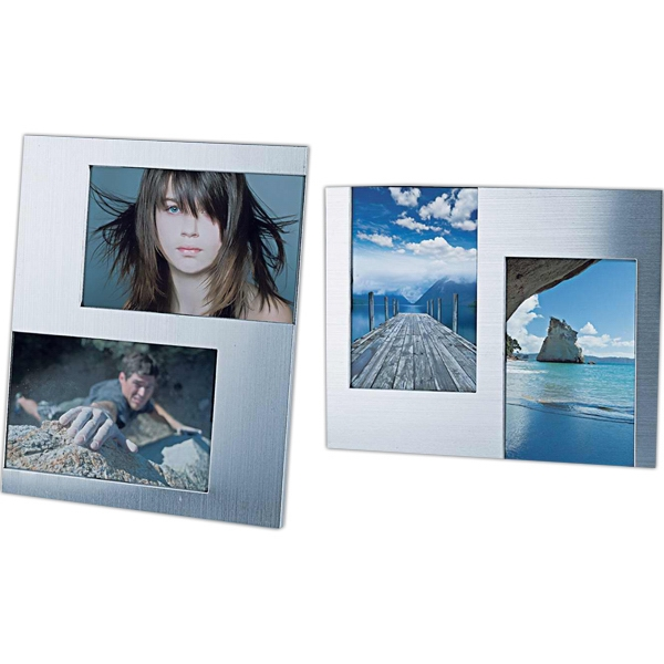 Two-photo Metal Frame (vertical Or Horizontal) Photo