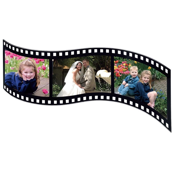 "Acrylic Filmstrip Photo Frame That Holds Three 5"" X 3 1/2"" Photos Photo"
