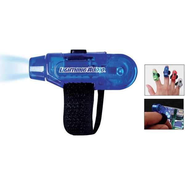 Finger Flashlight With Bright Led With Velcro Strap Photo