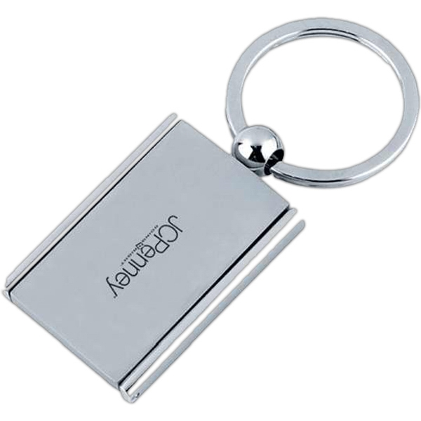 Key Chain With Rectangle Shape Photo Frame And Mirror Photo