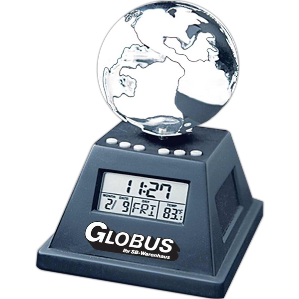 Solar Powered Moving Globe With Alarm Clock Photo