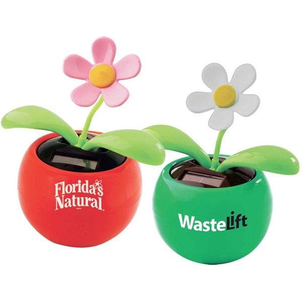 Solar Powered Dancing Flower Desk Accessory Photo
