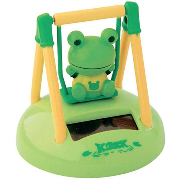 Solar Powered Swinging Frog Desk Accessory Photo