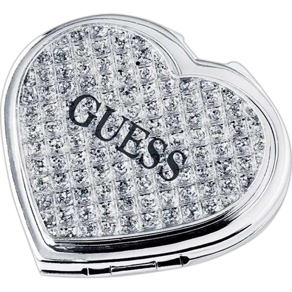 Jewelry Heart Shaped Compact Mirror Photo