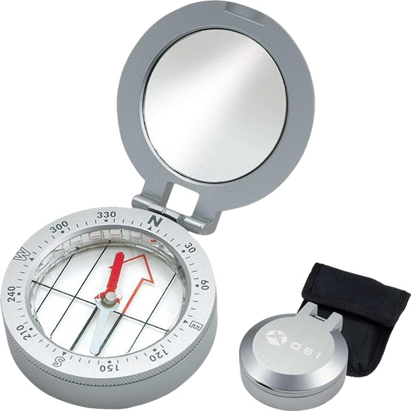Metal Compass With Mirror Photo