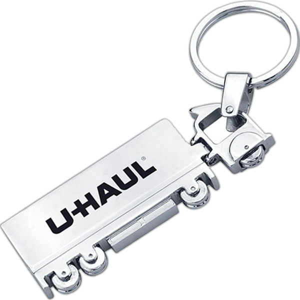 Metal Truck Shaped Key Chain Photo
