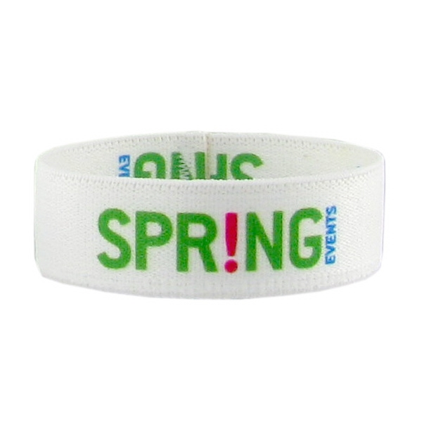 "3/4"" Dye Sublimated Stretchy Elastic Polyester Bracelet Photo"