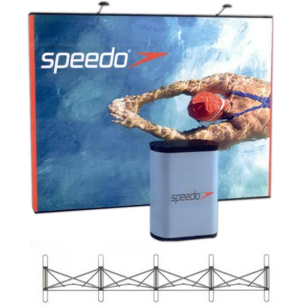 Graphic /  Fabric Kit - Pop-up display with a straight 10 ft. frame and 6 panels.
