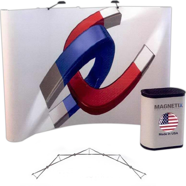 Magnetix curved all graphic kit (10 ft) - 10 ft. curved display kit with 6 graphic panels.