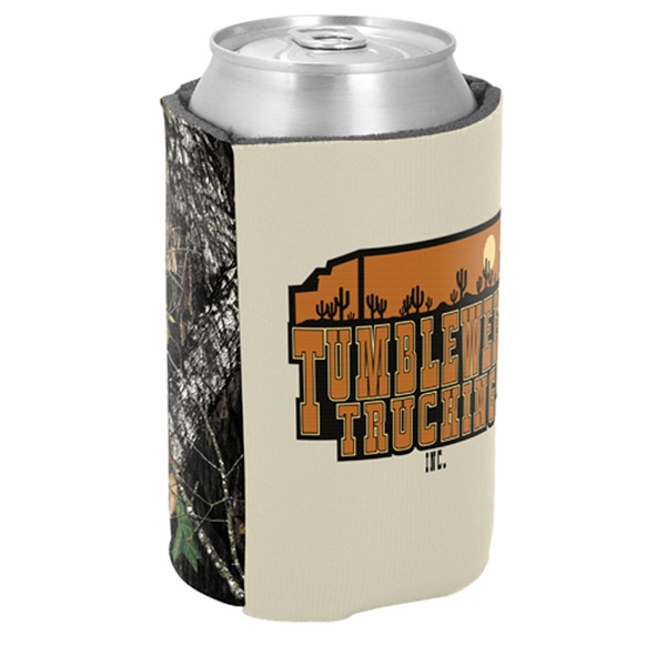 "Pocket Coolie (r) - Two-tone Can Insulator, Licensed Camo, 1/8"" Thick High-density Scuba Foam Photo"