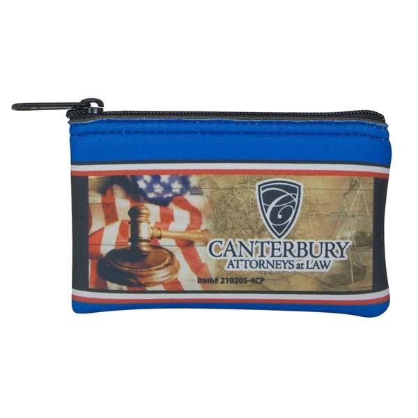 "Four Color Process Small Coin Bag, Expanded Vinyl, Mini Wallet, 5"" X 3"" Photo"