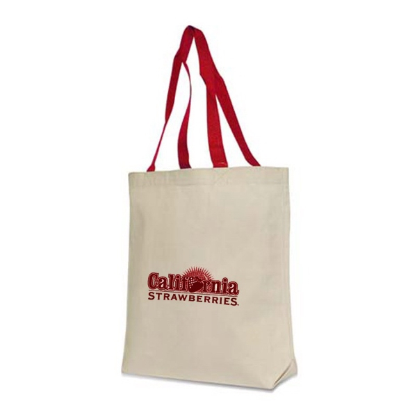 Contrast Handle Tote, 10 Oz 100% Cotton Canvas Photo