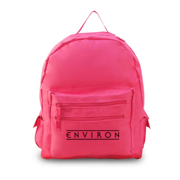 School Backpack, 600 Denier Polyester. Made With 50% Recycled Material Photo
