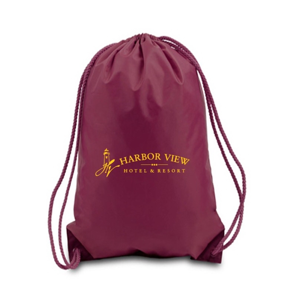 Medium Drawstring Backpack, 210d Polyester Photo