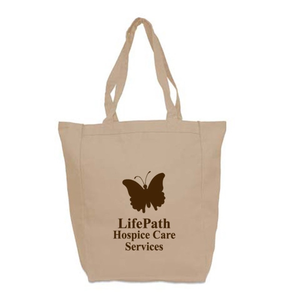 Natural Medium Cotton Tote, 10 Oz. 100% Cotton Canvas Photo