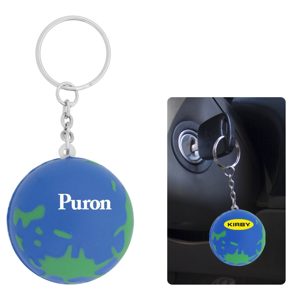 50 Working Days - Stress Toy Key Chain In The Shape Of Our Planet, Blue Oceans, Etc Photo