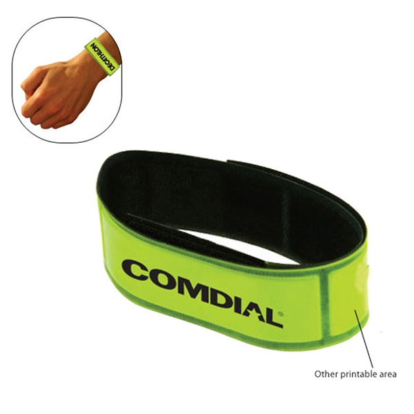 50 Working Days - Reflective Wrist Band Bracelets With Velcro Closure. Great For Safety Photo