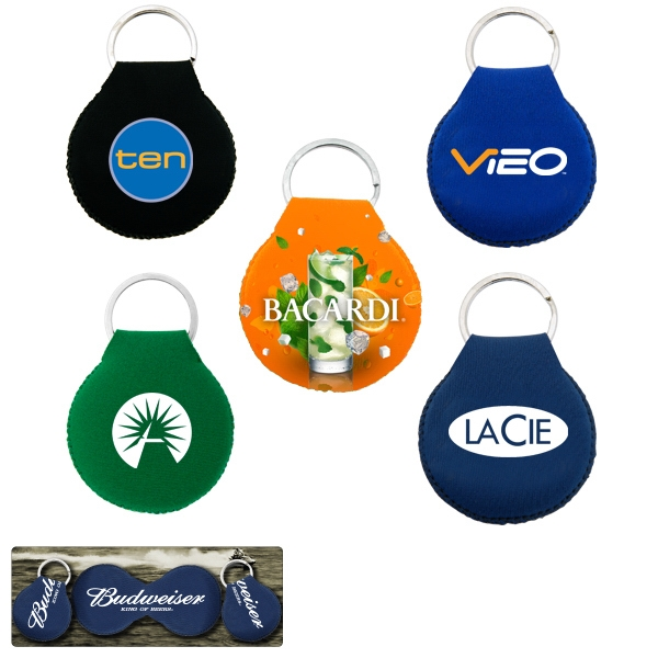 50 Working Days - Neoprene Disc Shape Key Chain With Padding Photo