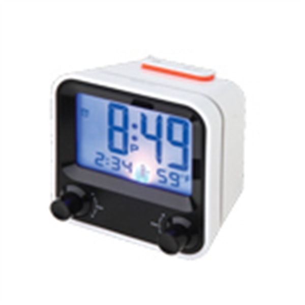 Easy To Set Alarm Clock With Thermometer Photo