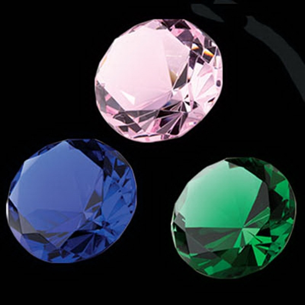 Colors - Crystal Diamond Shaped Paperweight Photo