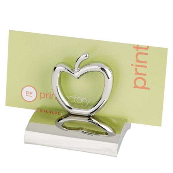 Chrome Metal Apple Business Card Holder Photo