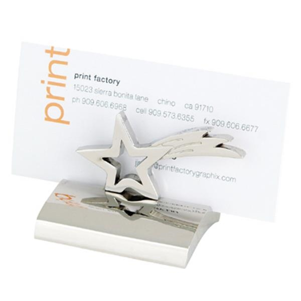 Chrome Metal Star Business Card Holder Photo