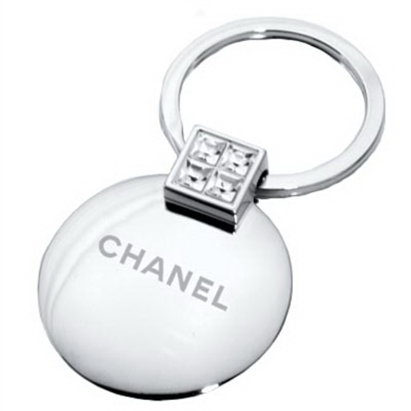 Round - Metal Jewelry Key Chain Photo