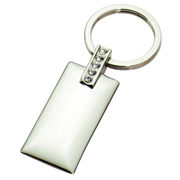 Rectangle - Metal Jewelry Key Chain Photo