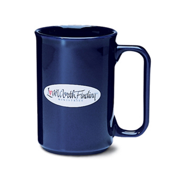 Covington - Cobalt - Colored Ceramic Mug With D-shaped Handle, 11 Oz Photo