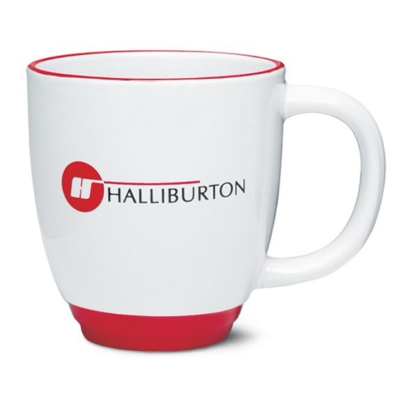 Heartland - White Mug With Red Base And Halo Accent Color, 13 Ounces Photo
