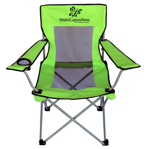 Cool Breeze - Chair Features Mesh Insert, Silver Color Frame And Nylon Carry Bag Photo
