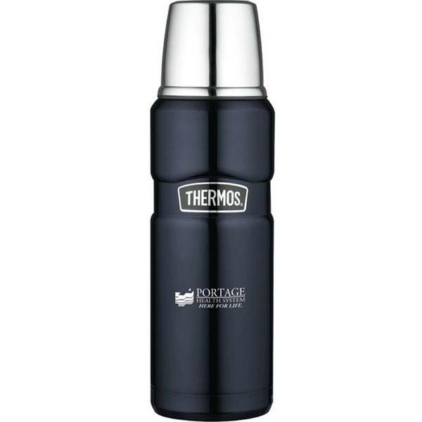 The Stainless King (tm) - Midnight Blue 16 Oz/470 Ml Compact Bottle, Insulated Stainless Steel Serving Cup Photo
